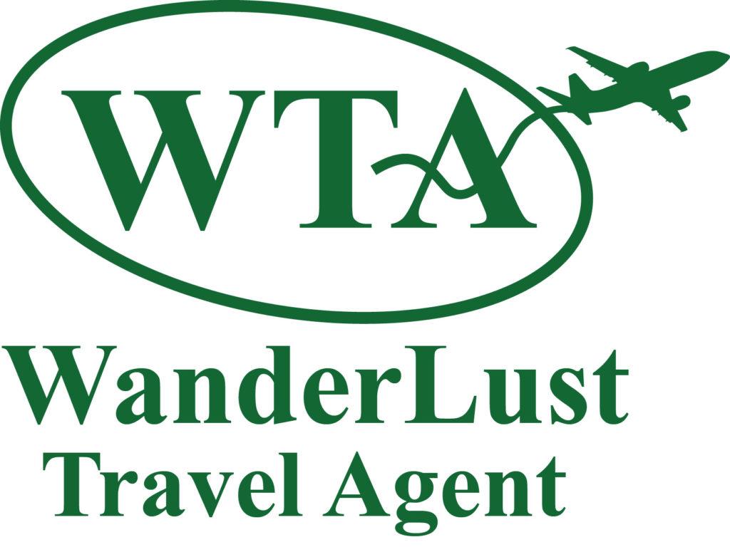 Wanderlust Travel Agent Logo